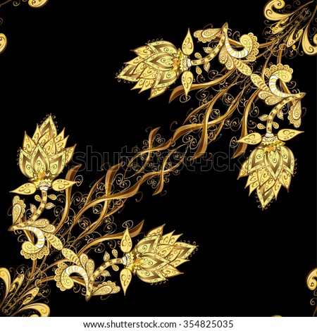 Abstract beautiful background, royal, damask ornament, vintage, rich seamless pattern, luxury, artistic vector wallpaper, floral, oldest style fashioned arabesque fabric for decoration and design - stock vector