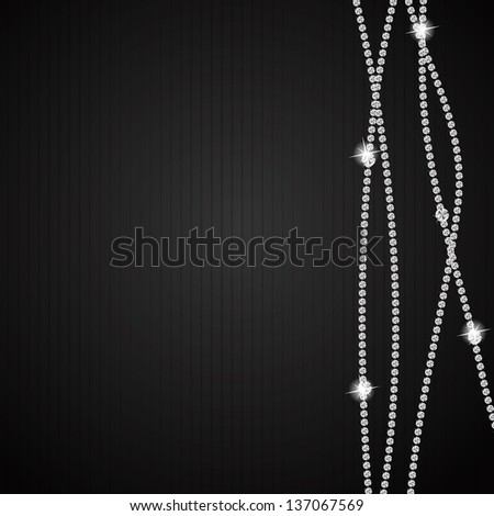 Abstract beautiful black diamond background vector illustration - stock vector