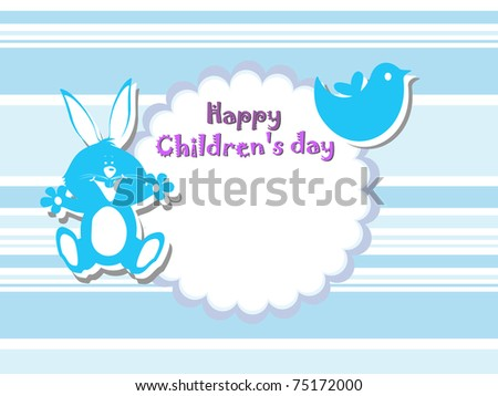 abstract beautiful concept background for happy children's day