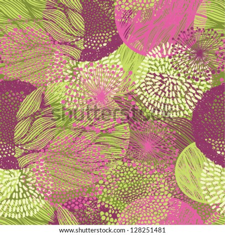 abstract beautiful floral spring seamless pattern - stock vector