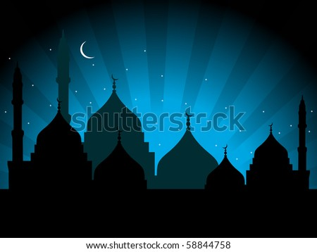 abstract beautiful illustration for eid - stock vector