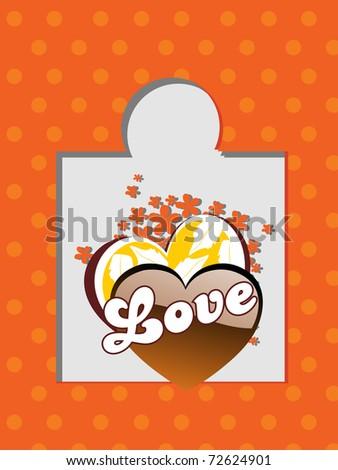 abstract beautiful love card, vector illustration - stock vector