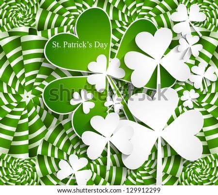 Abstract beautiful saint patricks day texture vector illustration - stock vector