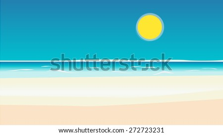 Abstract beautiful sea and sky background - stock vector