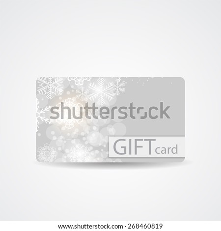 Abstract Beautiful Winter Christmas Gift Card Design, Vector Illustration.