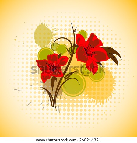 Abstract beautiful yellow floral background. - stock vector