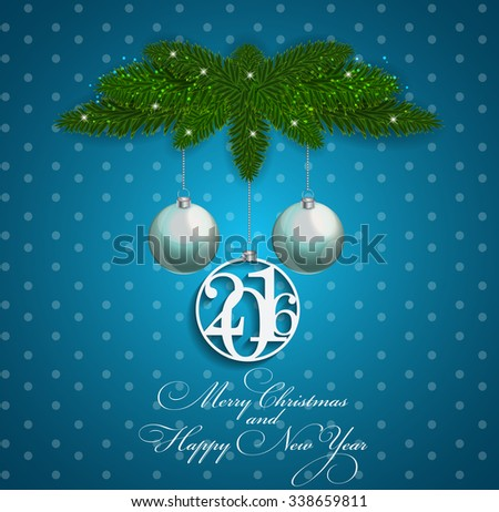 Abstract Beauty 2016 New Year Background. Vector Illustration. EPS10 - stock vector