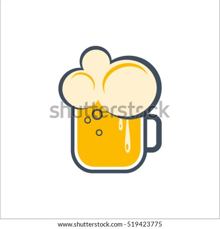Abstract beer symbol. Beer icon
