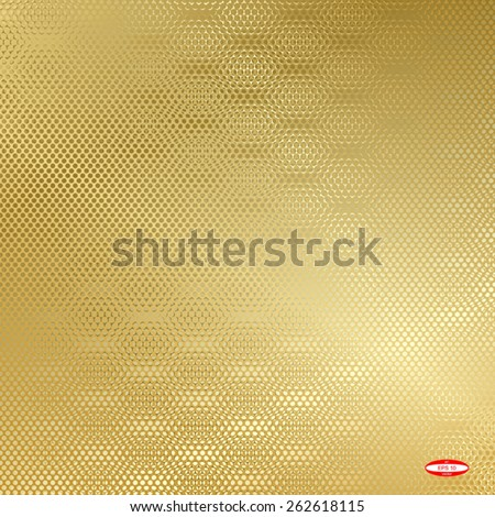 abstract beige floral pattern golden texture background. vector illustration - stock vector