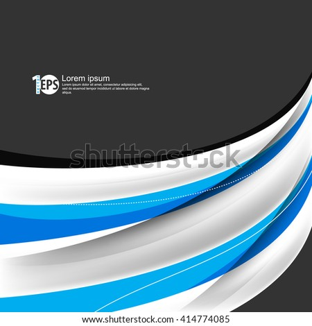 abstract bent lines flat layout corporate design material background. eps10 vector - stock vector