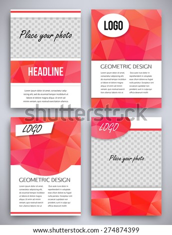Red Flyer Design Template Brochure Front Stock Vector