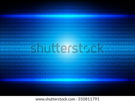 abstract  binary code blue technology background - stock vector