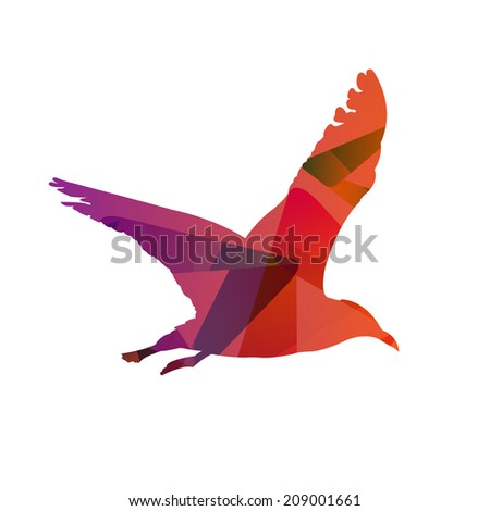 Abstract Bird - stock vector