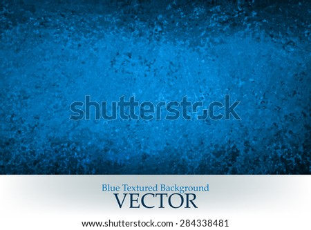 abstract black and blue vector background. blue grunge paint on black wall texture, blank banner with copyspace for typography title. - stock vector