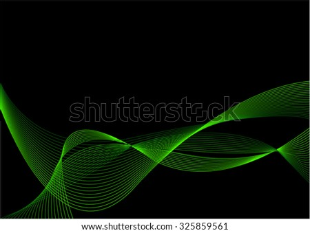 Abstract Black and Green Background with Blend - stock vector