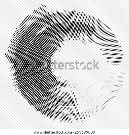 Abstract black and white background. Vector Logo element - stock vector