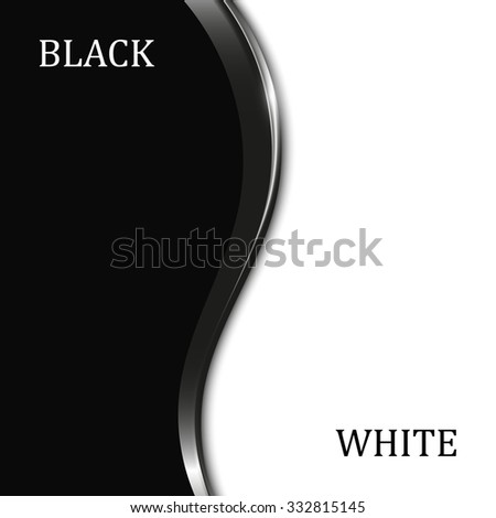 abstract black and white background with metal elements - stock vector