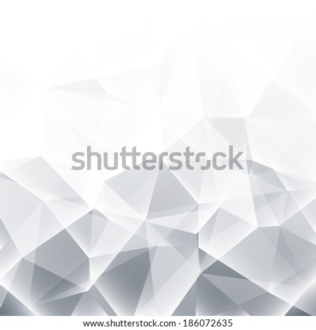 Abstract black and white 3d vector background illustration - stock vector