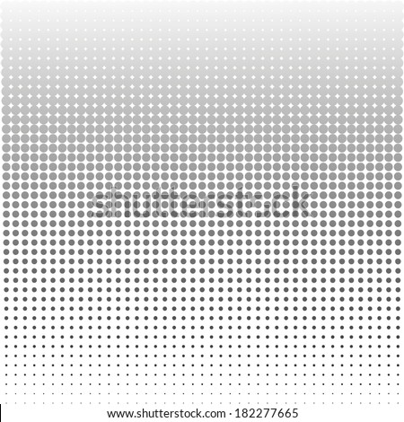 Abstract black and white dot background - stock vector