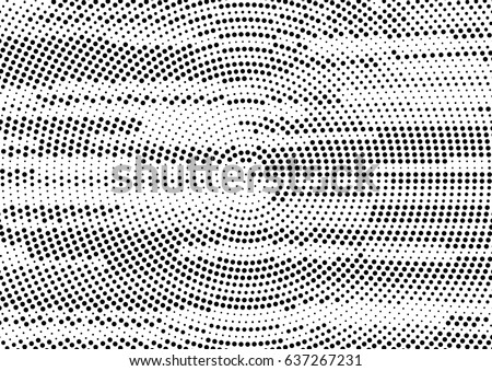 Abstract Black And White Halftone Stream Lines Dots Texture Vector Background For Posters Comic