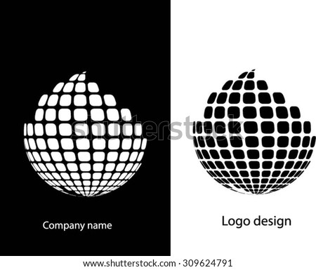 Abstract black and white logo design.Logo vector template.Business icon