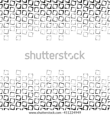 Abstract black and white ornament, lace texture, vector black and white seamless pattern - stock vector