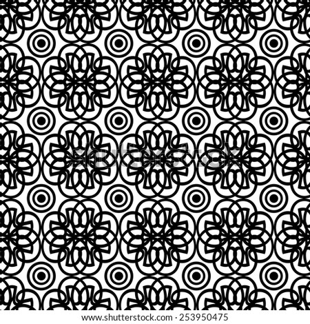 abstract black and white seamless pattern. - stock vector