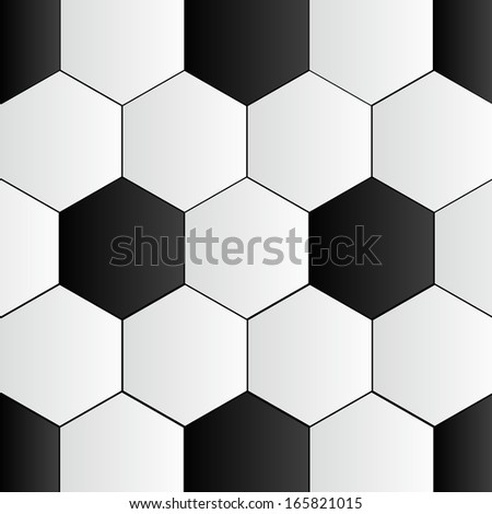 Abstract Black and White Soccer Background vector illustration - stock vector