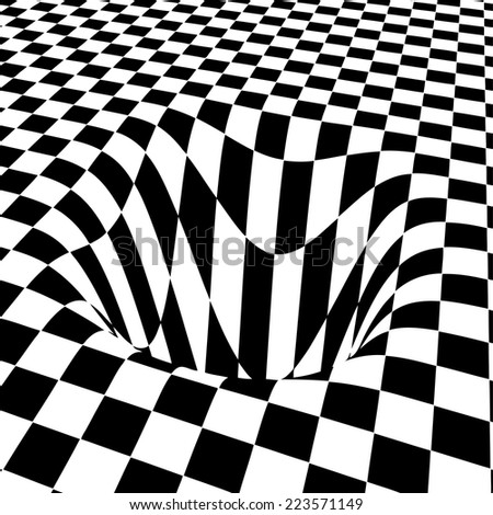 Abstract black and white vector background - stock vector