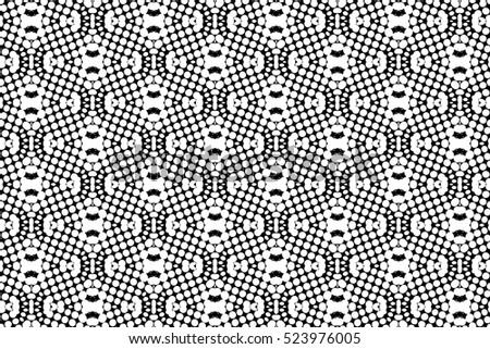 Abstract black and white vector geometric seamless pattern.