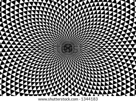 Abstract black and white vortex background - stock vector