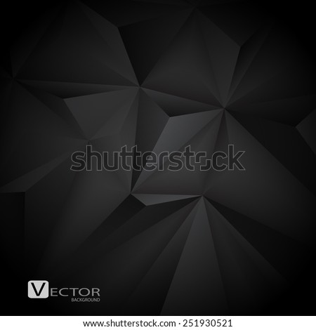 Abstract black background. Vector Illustration. Clip-art - stock vector
