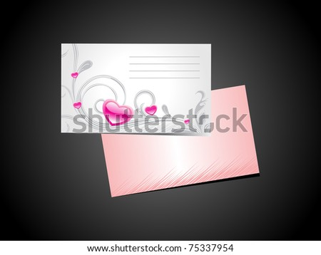 abstract black background with valentine day postcard - stock vector