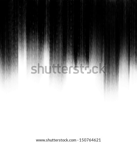 Abstract black brush : vector - stock vector