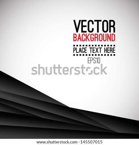 Abstract black creative background. Logo presents. Vector illustration - stock vector
