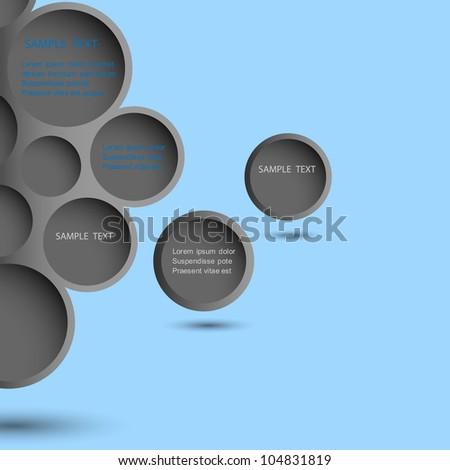 Abstract black design bubble background.Vector eps10 - stock vector