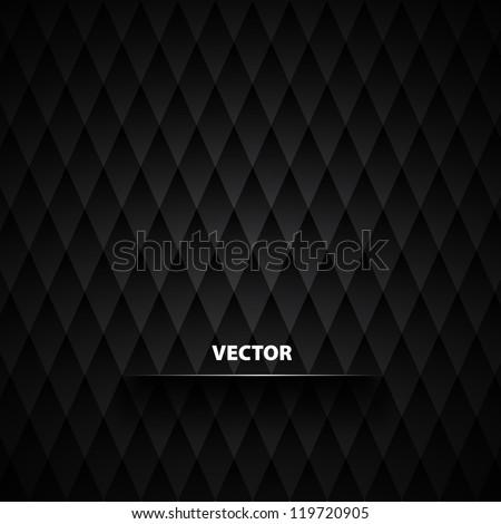 Abstract Black Diamond background - vector - stock vector