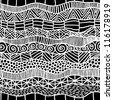 abstract black ethnic seamless pattern - stock vector