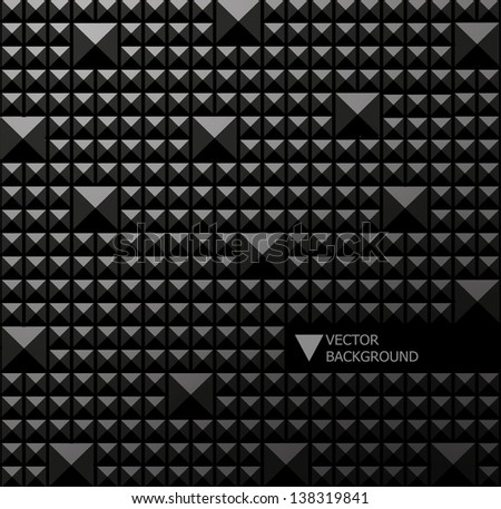 abstract black modern pixel background. Design modern template can be used for brochure, banners  - stock vector