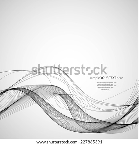 Abstract black wave - stock vector