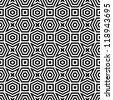 Abstract black & white pattern - stock vector