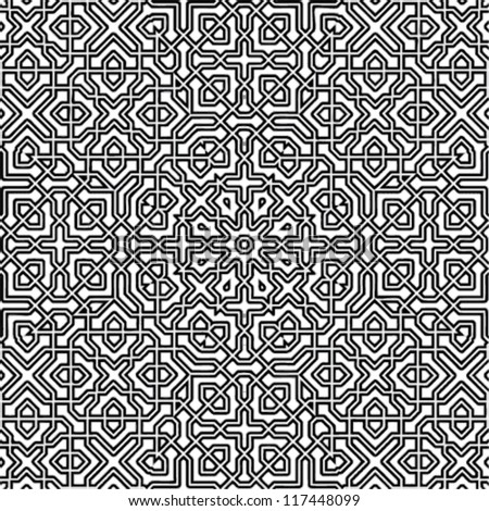 Abstract Black & White Vector Background - stock vector