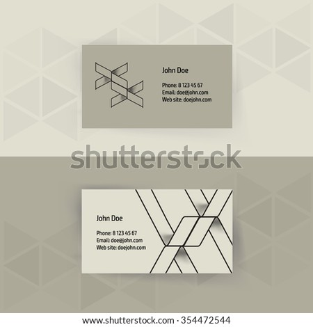 blank name card template