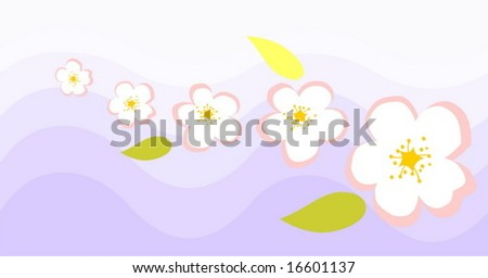 abstract blossom background - stock vector