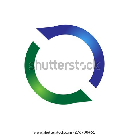 Abstract Blue And Green Background. Logo Design. White Background.