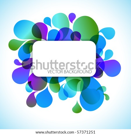 Abstract blue and green background with place for your text - stock vector