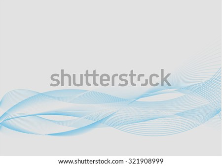 Abstract Blue and Grey Background with Blend - stock vector