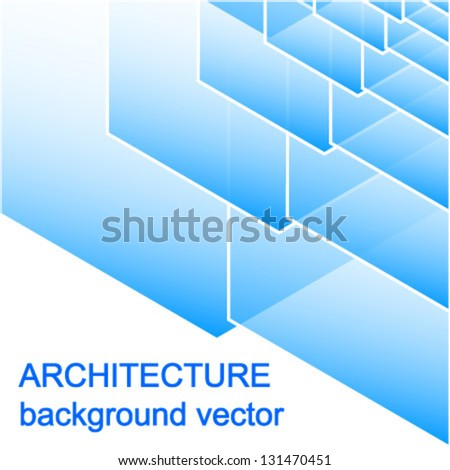 abstract blue architecture background vector