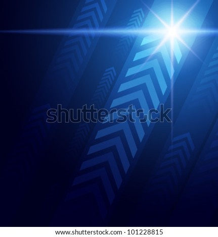 Abstract Blue Arrows - stock vector