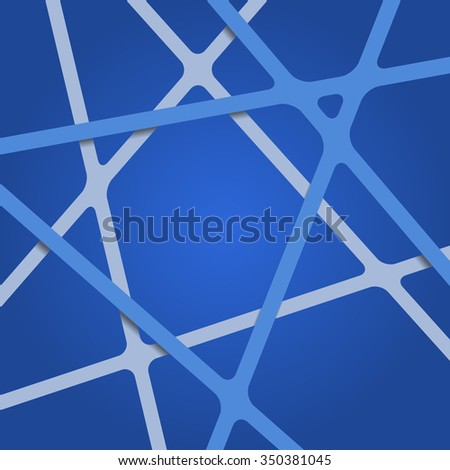Abstract blue background. Abstract blue lines. Overlapping abstract art blue. Abstract blue. Streaks abstract blue. Abstract blue tapes. Abstract blue stripes. Abstract blue design 3d background. - stock vector